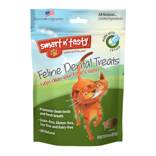 Emerald Smart n' Tasty Feline Dental Treats with Catnip Cat Treats