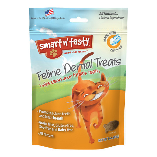 Smart n' Tasty Feline Dental Treats with Chicken Cat Treats
