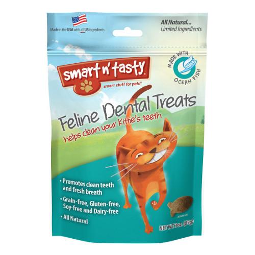 Emerald Smart n' Tasty Feline Dental Treats with Ocean Fish Cat Treats