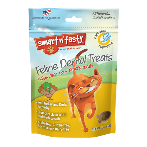 Emerald Smart n' Tasty Feline Dental Treats with Turducky Cat Treats