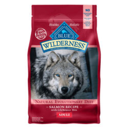 Autoship & Save - 5% off every autoship order Blue Buffalo Wilderness Salmon Recipe Grain-Free Dry Dog Food