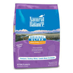 Natural Balance Original Ultra Whole Body Health Venison, Turkey Meal & Lamb Meal Formula Dry Cat Food