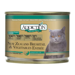 Addiction New Zealand Brushtail & Vegetables Entree Canned Cat Food
