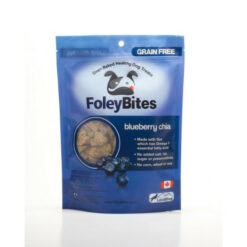 FoleyBites Oven Baked Healthy Dog Treats Blueberry Chia