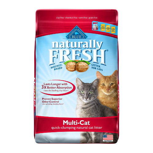 Blue Buffalo Naturally Fresh Walnut-Based Multi-Cat Quick-Clumping Cat Litter