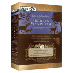 Addiction Grain-Free Fig'Licious Venison Feast Raw Dehydrated Dog Food