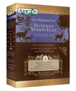Addiction Grain-Free Fig'Licious Venison Feast Raw Dehydrated Dog Food