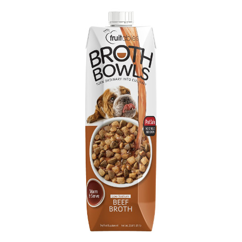 Fruitables Beef Broth Bowls Dog Food Topper