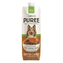Fruitables Easy Pour Roasted Carrot Puree Dog Supplement