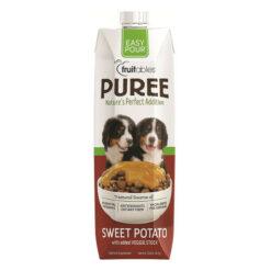 Fruitables Easy Pour Sweet Potato Puree Dog Supplement