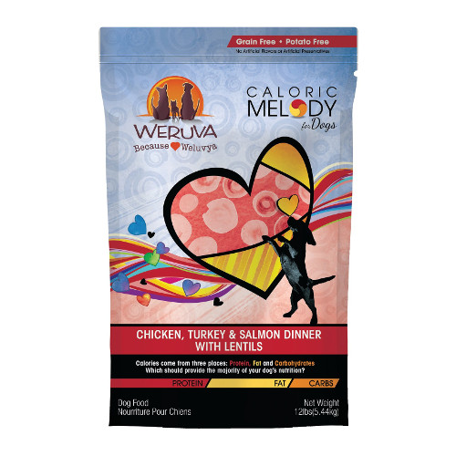 Weruva Caloric Melody Chicken, Turkey & Salmon Dinner with Lentils Grain-Free Dry Dog Food
