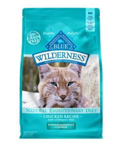 Blue Buffalo Wilderness Chicken Recipe Indoor Hairball Control Grain-Free Dry Cat Food