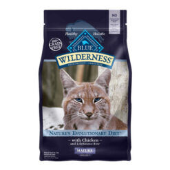 Blue Buffalo Wilderness Mature Chicken Recipe Grain-Free Dry Cat Food 5lbs