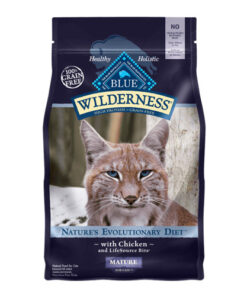 Blue Buffalo Wilderness Mature Chicken Recipe Grain-Free Dry Cat Food 5lbs