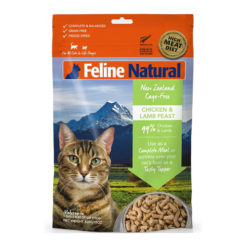 K9 Feline Natural Chicken and Lamb Feast Raw Grain Free Freeze Dried Cat Food 11oz