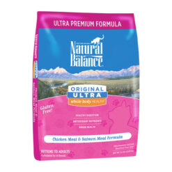 Natural Balance Original Ultra Whole Body Health Chicken Meal & Salmon Meal Formula Dry Cat Food