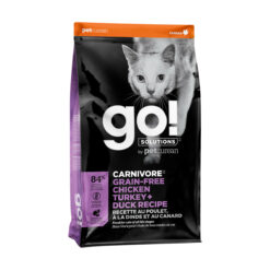 Go! Solutions Carnivore Grain-Free Chicken, Turkey + Duck Recipe Dry Cat Food