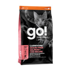 Go! Solutions Carnivore Grain-Free Salmon + Cod Recipe Dry Cat Food