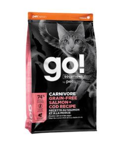 Go! Solutions Carnivore Grain-Free Salmon + Cod Recipe Dry Cat Food