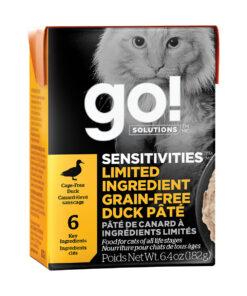 Go! Solutions Sensitivities Limited Ingredient Tetra Packs for Cats - Grain-Free Duck Pâté