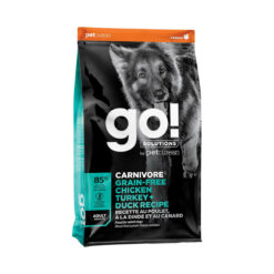 Go! Solutions Carnivore Grain-Free Chicken, Turkey + Duck Adult Recipe Dry Dog Food