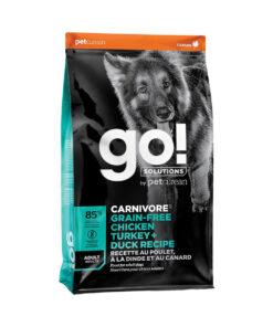 Go! Solutions Carnivore Grain-Free Chicken, Turkey + Duck Adult Recipe Dry Dog Food