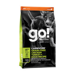 Go! Solutions Carnivore Grain-Free Chicken, Turkey + Duck Puppy Recipe Dry Dog Food