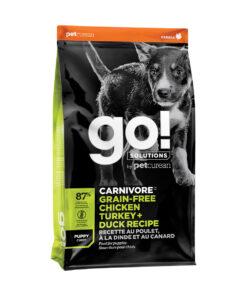 Go! Solutions Carnivore Grain-Free Chicken, Turkey + Duck Puppy Recipe Dry Dog Food