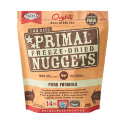 Primal Pork Formula Nuggets Grain-Free Raw Freeze-Dried Cat Food