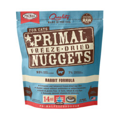 Primal Rabbit Formula Nuggets Grain-Free Raw Freeze-Dried Cat Food