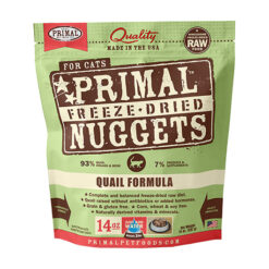 Primal Quail Formula Nuggets Grain-Free Raw Freeze-Dried Cat Food