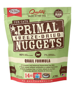 Primal Quail Formula Nuggets Grain-Free Raw Freeze-Dried Cat Food
