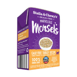 Stella & Chewy's Grain-Free Marvelous Morsels Wet Food for Cats - Cage-Free Turkey Recipe