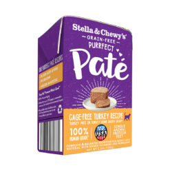 Stella & Chewy's Grain-Free Purrfect Paté Wet Food for Cats - Cage-Free Turkey Recipe
