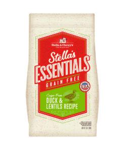 Stella's Essentials Grain-Free Cage Free Duck & Lentils Recipe Dry Dog Food