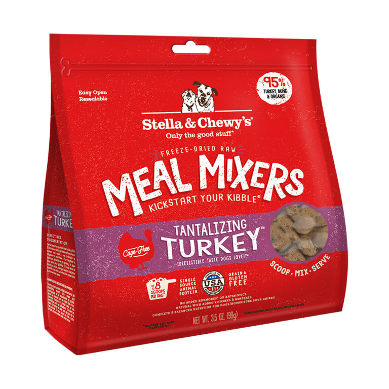 Stella & Chewy's Tantalizing Turkey Meal Mixers Freeze-Dried Raw Dog Food Topper