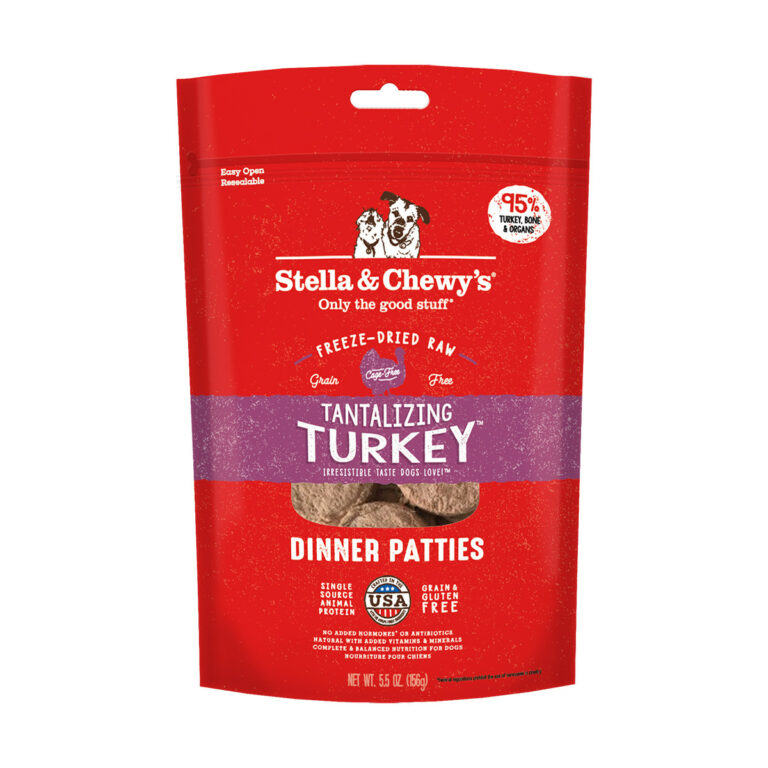 Stella & Chewy's Tantalizing Turkey Dinner Patties Freeze-Dried Raw Dog Food