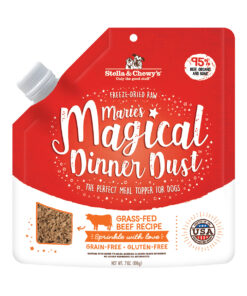 Stella & Chewy's Marie's Magical Dinner Freeze-Dried Raw Dust Grass-Fed Beef Dog Food Topper