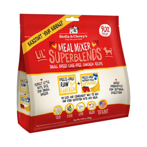Stella & Chewy's Lil' SuperBlends Small Breed Cage-Free Chicken Recipe Meal Mixers Freeze-Dried Raw Dog Food Topper