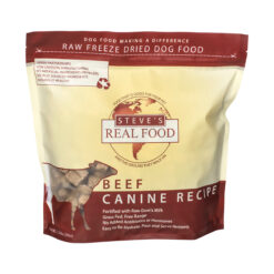 Steve's Real Food Raw Freeze Dried Beef Diet Dog Food