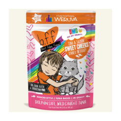 Best Feline Friend OMG Sweet Cheeks Tuna & Salmon Dinner in Gravy Wet Cat Food Pouches