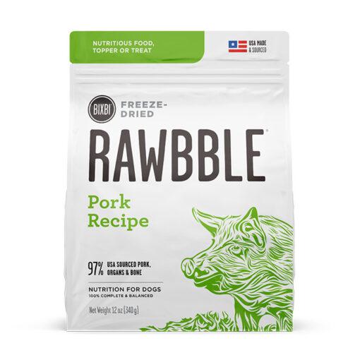 Bixbi Rawbble Freeze Dried Pork Recipe Dry Dog Food