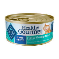 Blue Buffalo Healthy Gourmet Flaked Fish & Shrimp Entree in Gravy Canned Cat Food
