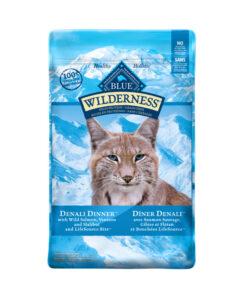 Blue Buffalo Wilderness Denali Dinner with Wild Salmon, Venison & Halibut Grain-Free Dry Cat Food