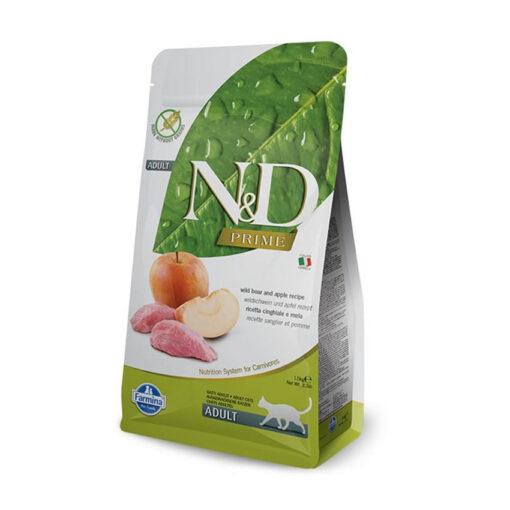 Farmina N&D Prime Boar & Apple Recipe Adult Cat Dry Food