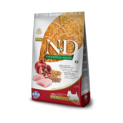 Farmina N&D Ancestral Grain Chicken & Pomegranate Recipe Adult Mini Dry Dog Food