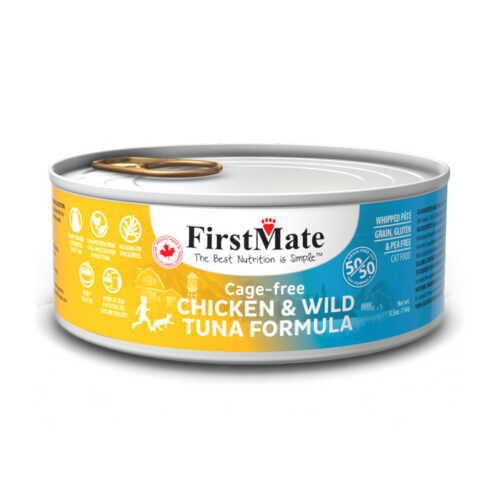 FirstMate 50/50 Chicken & Tuna Formula Grain-Free Canned Cat Food