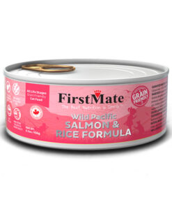 FirstMate Grain Friendly Wild Pacific Salmon & Rice Formula Canned Cat Food