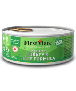 FirstMate Grain Friendly Cage-free Turkey & Rice Formula Canned Cat Food