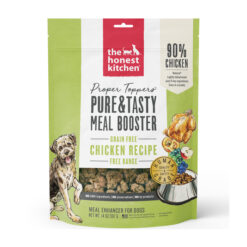 The Honest Kitchen Proper Toppers Grain-Free Chicken Recipe Dehydrated Dog Food Topper